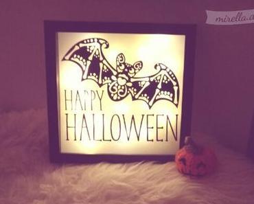 Halloween Deko mit Zuckerfledermaus