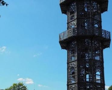 Gusseiserner Turm Löbau in Sachsen - Der König Friedrich August Turm auf dem Löbauer Berg ist eine seltene Sehenswürdigkeit