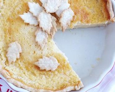 Buttermilch Pie mit Pflaumen Kompott
