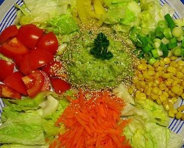 bunter Salato mit AvocadoDipp