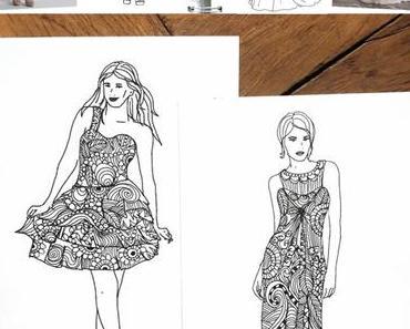 [diy] Fashion Doodle - mit Vorlage zum Ausmalen