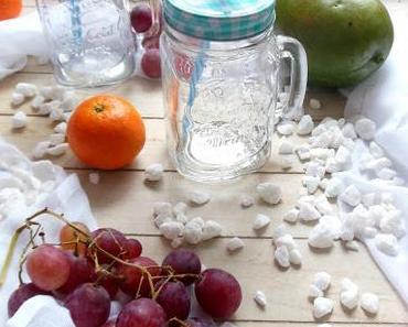 Tu Dir was Gutes: Grüner Smoothie mit Mandarine, Traube und Mango