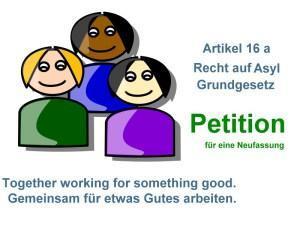 Petition für Änderung und Neufassung des Artikels 16 a Recht auf Asyl veröffentlicht