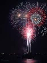 Feuerwerk in Neuseeland