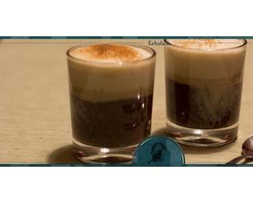 Chia-Schoko-Pudding mit Kaffeeschaum