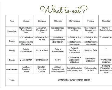 Clean Eating: Was gibt's zu essen? (Wochenplan)