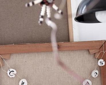 Deko-Donnerstag im weihnachtlich dekorierten Wohnzimmer und Mini-DIY
