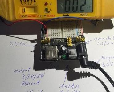 MB102 Breadboard Specification:  3,3 Volt und 5 Volt gleichzeitig ua. für ESP8266