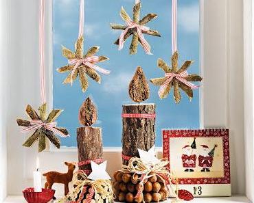 Weihnachtsdeko basteln: Rindensterne - natürlich schön!