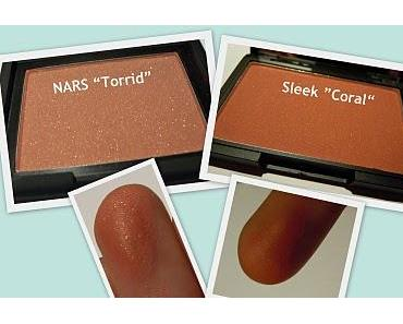 "NARS ""Torrid"" vs. Sleek ""Coral"" Blush"