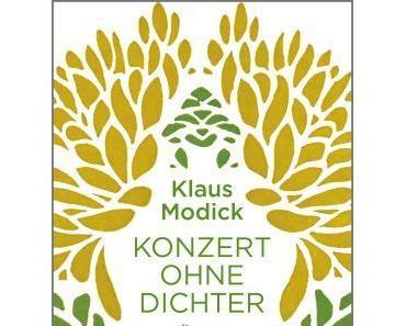Buchtipp: Klaus Modick - Konzert ohne Dichter
