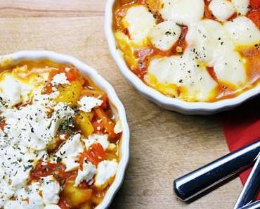 Überbackenes Gemüse mit Feta
