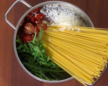One Pot Pasta Tomate Rucola - einfach, schnell und verdammt lecker!