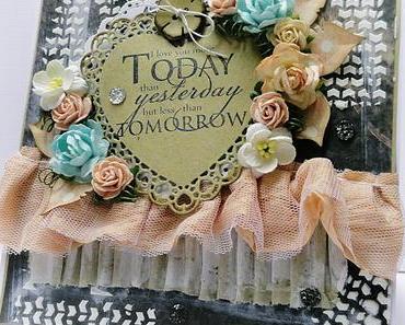 Valentinecard | Today i love you more..... | DT Riddersholm Design
