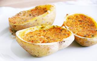 vegane gefüllte Ofenkartoffeln