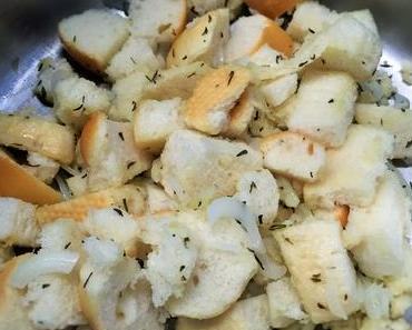 Die sparsame Januar-Küche: Spinatsuppe mit Brotresten