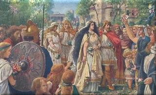 Nibelungen Sage 8/28 | Wie Gunther und Siegfried Hochzeit hielten