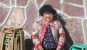 Guoliang China kleine chinesische Dame ruhmreiches Bergdorf