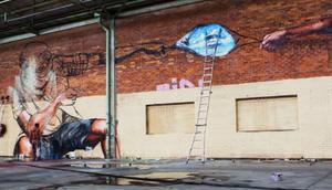 passiert wenn Graffitikünstlern Lagerhaus überlässt