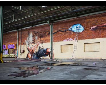 Das passiert wenn du Graffitikünstlern ein Lagerhaus überlässt