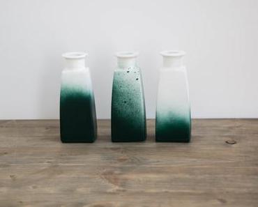 schereleimpapier für FROSCHBLOG: Grünes Vasen-Upcycling