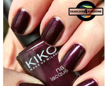 [Nails] Lacke in Farbe ... und bunt! AUBERGINE mit KIKO 245 Pearly Dark Ruby