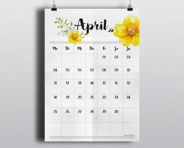 Freebie Kalender 2016 – März und April
