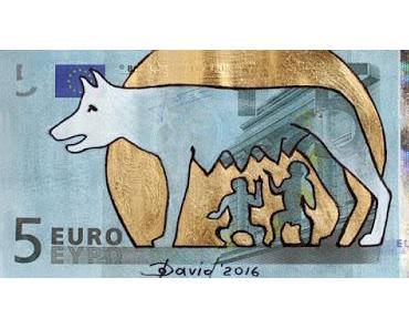 """Aktion der Universitätsbibliothek Leipzig """"Gib dem Euro ein Gesicht"""""""