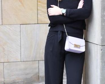 OUTFIT – PALAZZO & FURLA CROSS BODY BAG.