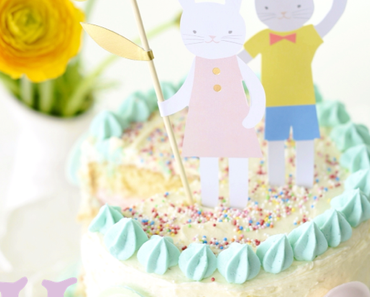 Himbeer Kokos Torte mit Marzipan zu Ostern – Blueboxtree Parties