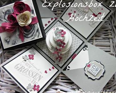 Explosionsbox mit Geldfach zur Hochzeit - Bloghop Team StampinClub