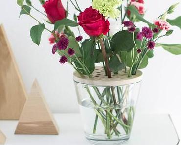 DIY Blumensieb - Oder wie man Schnittblumen in großen Vasen arrangiert