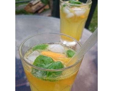 Basilikum-Orangen-Limonade