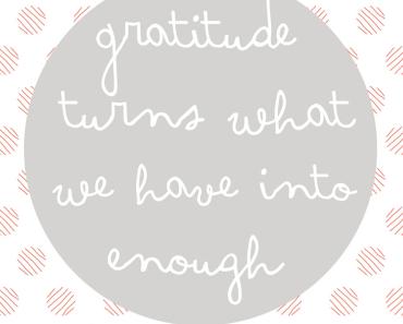 Ich bin dankbar! Und deshalb glücklicher