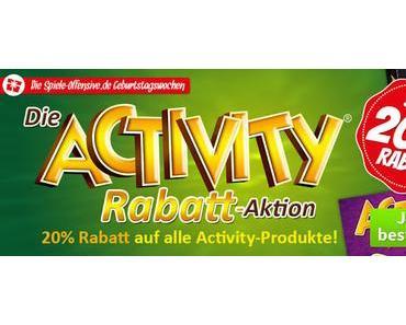 Spiele-Offensive Geburtstagswochen 2016 - Die Activity Rabatt-Aktion