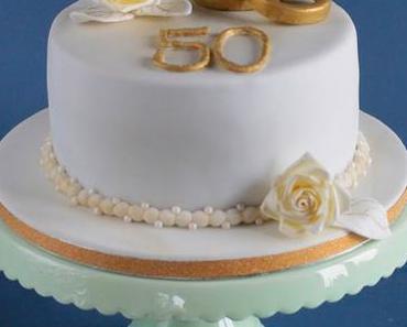 Hochzeitstorte zur goldenen Hochzeit