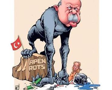 De Telegraaf zeigt: Sultan Erdogan hat Schrumpelklöten!
