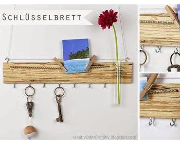 Holz-Schlüsselbrett