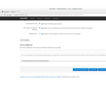 OpenWrt: Anmeldung über SSH-Schlüssel