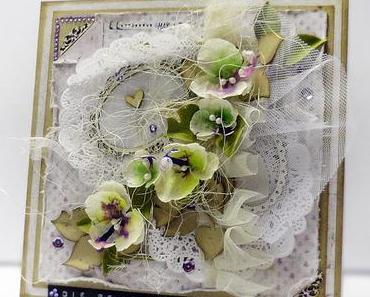 handmade mulberry orchid flowers with Ken Oliver Crafts Color Burst ♥ Die besten Wünsche