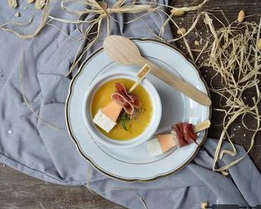 Kohlrabi Melonen Suppe / Creamy Kohlrabi Melon Soup