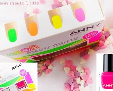 ANNY - Neon Meets Matte - Set   & - 135 coral reef - Nail Color