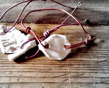 #freitagsbasteln - ein Armband aus Kaltporzellan