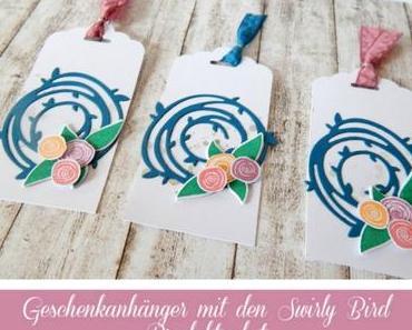 Kleine Geschenke   Geschenkanhänger mit dem Swirly Bird Produktpaket {Freebie}