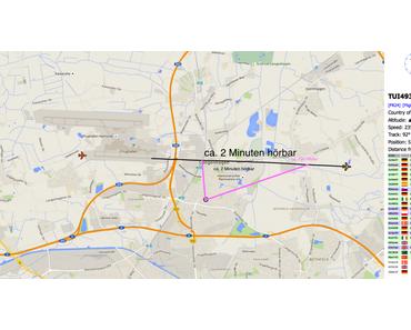 Raspberry Pi Transponder Datenauswertung – Fluglärm: Ab welcher Höhe und wie lange sind Flugzeuge aus EDDV (HAJ) bei mir in Langenhagen hörbar?