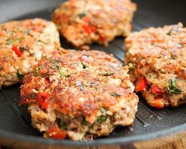 Lachsfrikadelle mit Quinoa
