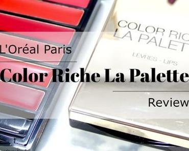 L'Oréal Paris Color Riche La Palette Lips – Review