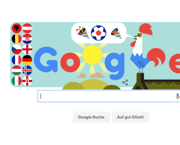Google Doodle zur Euro 2016