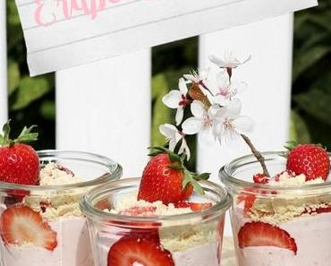 Deluxe Erdbeer-Quark mit Shortbread
