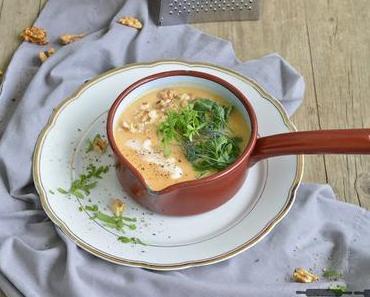 Cremige Kohlrabi Karotten Suppe / Creamy Kohlrabi Carrot Soup